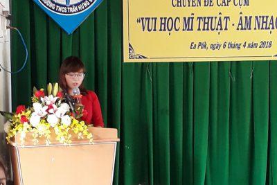 """Chuyên đề """" Vui học Mỹ Thuật – Âm nhạc"""" của trường THCS Trần Hưng Đạo"""