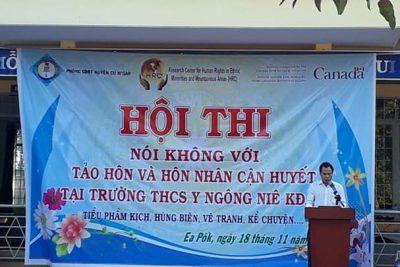 """Trường THCS Y NGÔNG NIÊ KDĂM tổ chức Hội thi """" Tìm hiểu về tảo hôn và hôn nhân cận huyết thống"""""""